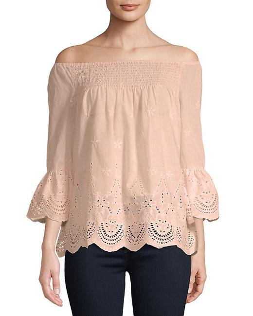 Item - Embroidered Off-the-shoulder Cotton Top 400097850903 Blouse