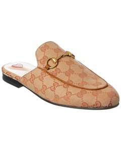 Gucci Princetown Gg Canvas 475094 G1730 8369 Mules/Slides