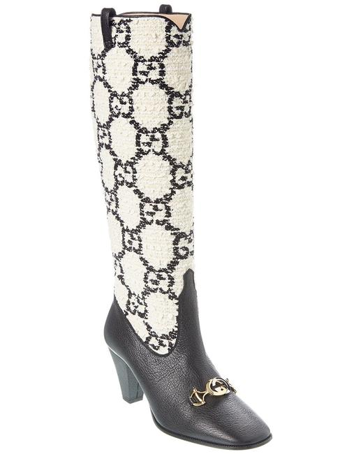 Item - Zumi Gg Tweed Leather Knee 577652 G3210 8975 Boots/Booties