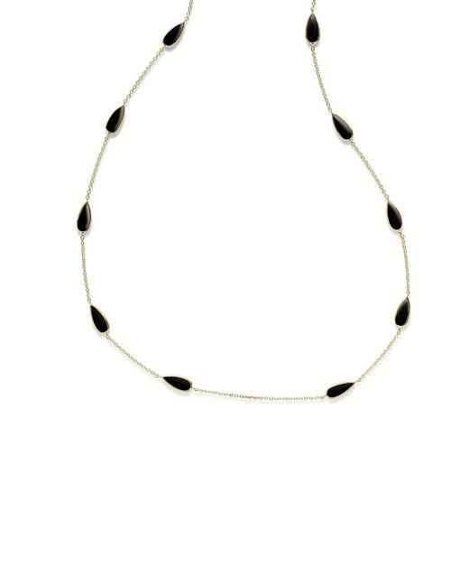 Item - Candy Polished Rock 18k 14.00 Ct. Tw. Onyx Pear Necklace Gn1022nx Jewelry
