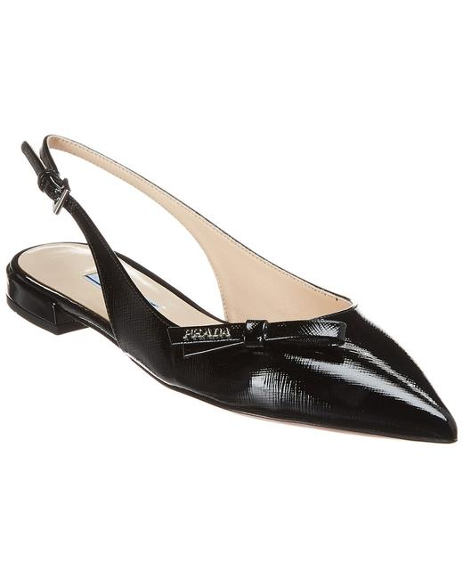Item - Saffiano Leather Pointy-toe Slingback Ballerina 1f211l 3a9s F0002 010 Flats