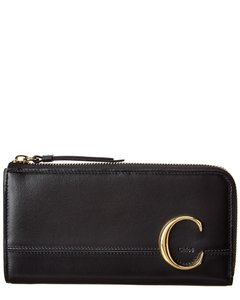 Chloé C Long Leather Wallet Chc19sp055 A37 001 Accessory