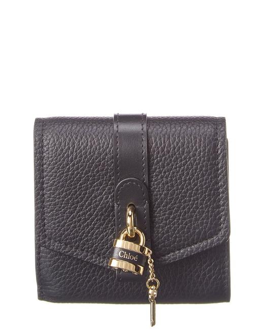 Chloé Aby Leather Trifold Wallet Chc20sp315 B71 001 Accessory Chloé Aby Leather Trifold Wallet Chc20sp315 B71 001 Accessory Image 1
