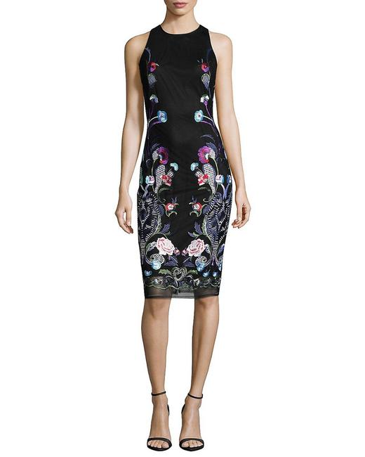 Item - Floral Embroidered Sheath 400098872036 Cocktail Dress