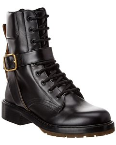 Chloé Diane Buckle Leather Combat Chc20a34 9l4 001 Boots/Booties