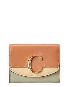 Chloé C Small Leather Trifold Wallet Chc20ap088 D09 26b Accessory