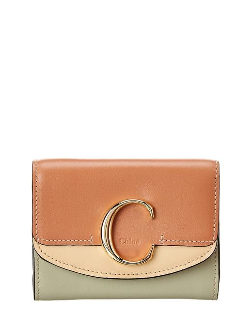 Chloé C Small Leather Trifold Wallet Chc20ap088 D09 26b Accessory Chloé C Small Leather Trifold Wallet Chc20ap088 D09 26b Accessory Image 1