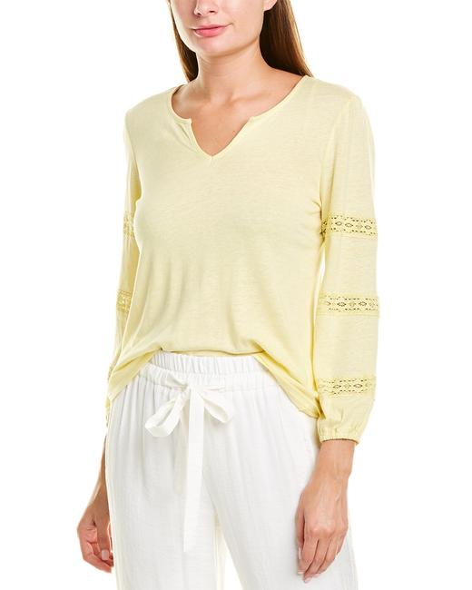 Item - Split Lace Linen-blend Top 8199624 Sweater/Pullover