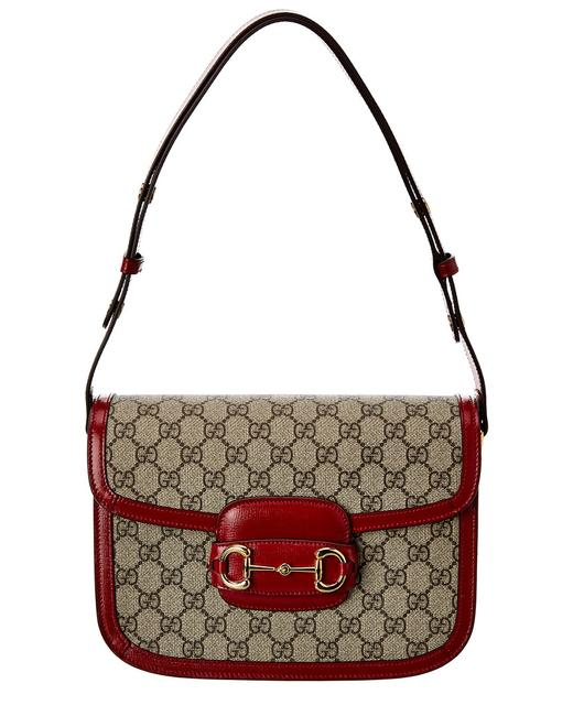 Gucci Horsebit 1955 Gg Supreme Canvas & Leather 602204 92tcg 8561 Shoulder Bag Gucci Horsebit 1955 Gg Supreme Canvas & Leather 602204 92tcg 8561 Shoulder Bag Image 1
